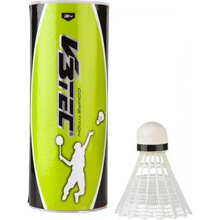 V3Tec Tournament 12 er Badmintonball weiss Weitere Ballsportarten