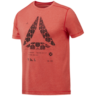 Reebok Speedwick Graphic T primal red - Funktionsshirt Herren